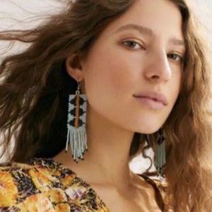Free People Beaded Dangle Earrings NWT
